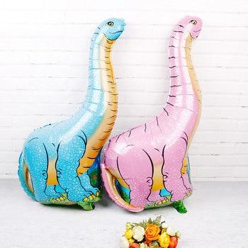 95x66cm Big Dinosaur Balloons 50pcs Aluminum Foil Globos Birthday Dinosaur Party Pet Theme Decorations party supplies Kids Toys