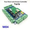 Tcp/ip Netzwerk Vier Tür Access Controller Vier tür einer Weg Türschloss Access Control Panel für home Security M04|Zugangs Control Kits|Sicherheit und Schutz -