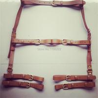 Punk Dark Amo Handcrafted Harness Leather Belt Waist Thigh Harness Leg Wrap Garter Belt Suspenders