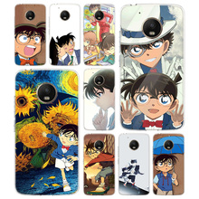 Anime Detective Conan TPU Phone Case For Motorola Moto G7 G6 G5S G5 E4 Plus G4 E5 Play Gift Pattern Coque Cover Shell