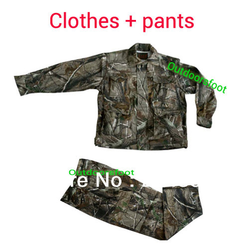 все цены на Professional Hunting Camo Clothes and Pants  Bionic Camouflage for Hunter Safari Hunting Gear Outfitter Free Ship онлайн