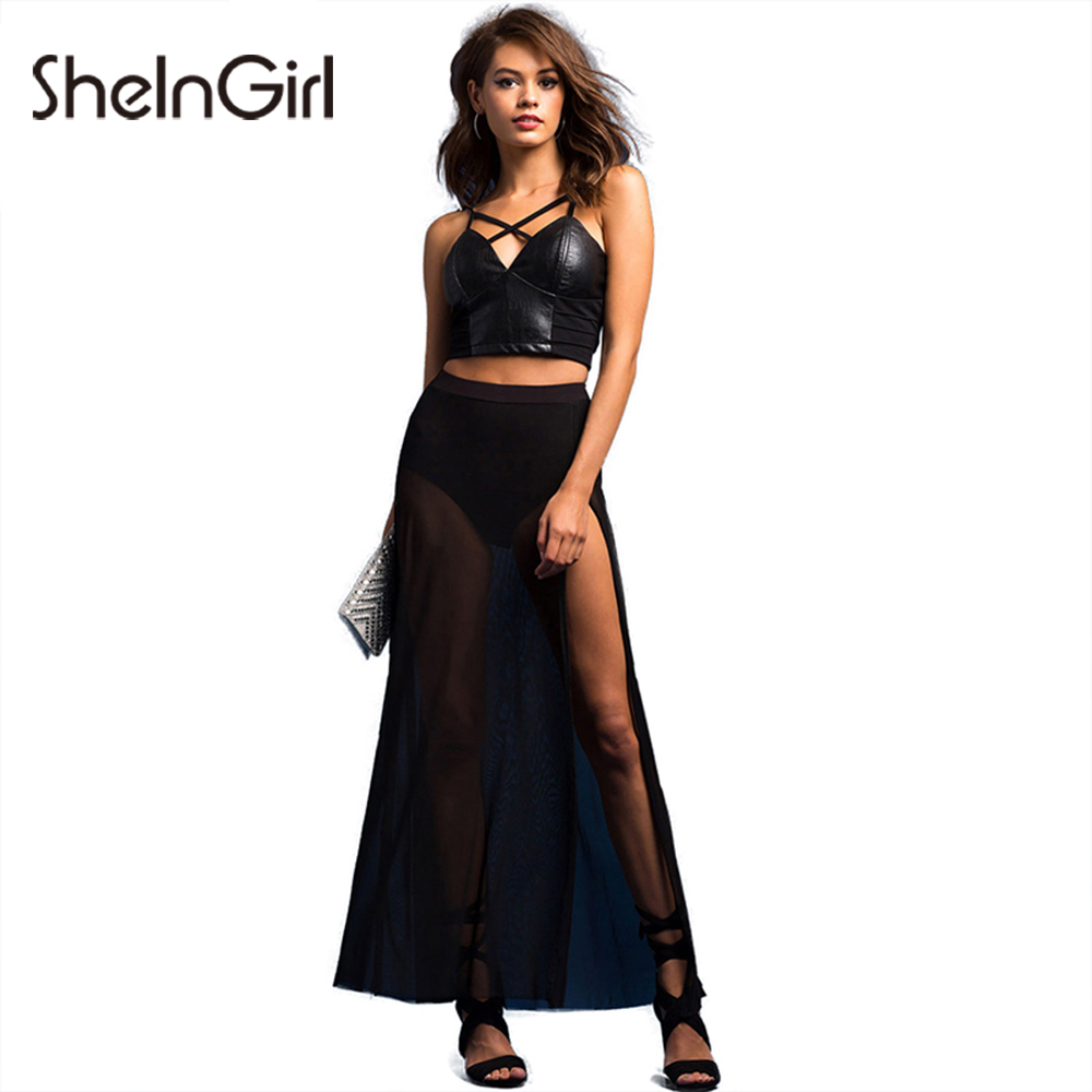 Online Get Cheap High Waisted Maxi Skirt Black -Aliexpress.com ...