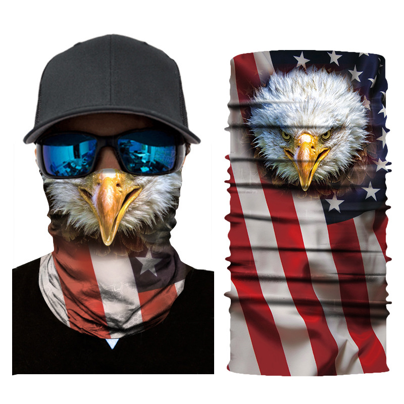 3D digital printing flag series wild headscarf outdoor multi-function riding wild magic sunscreen soft high elastic scarf mask