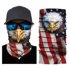 3D digital printing flag series wild headscarf outdoor multi-function riding wild magic sunscreen soft high elastic scarf mask