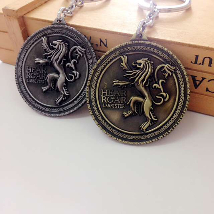 Game of Thrones Accessories Funny Keychain House Stark Targaryen Jon Snow Lannister of Casterly Rock Nymeros Martell Key Chain
