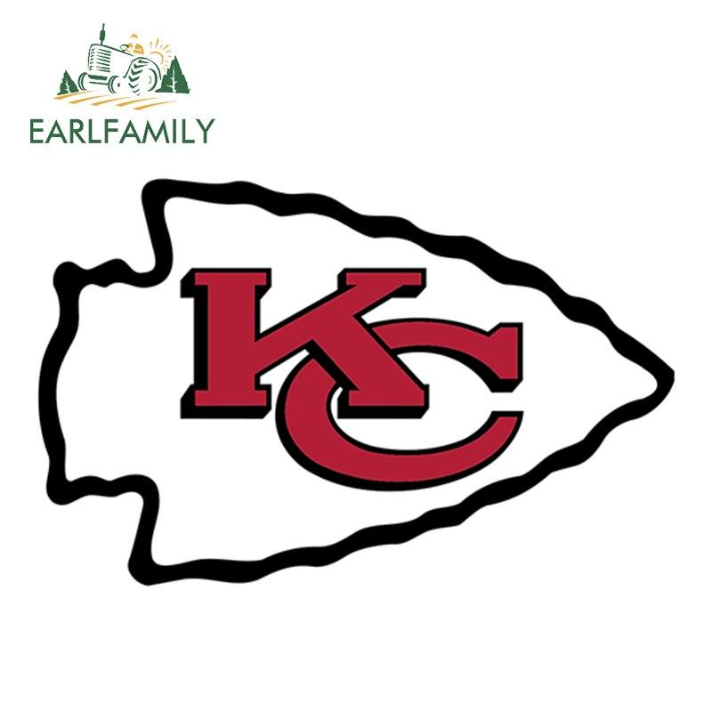 EARLFAMILY 13cm X 8.3cm Kansas City Chiefs NFL Car Truck Window Decal Sticker Football Laptop Yeti Bumper Helmet Car Stickers