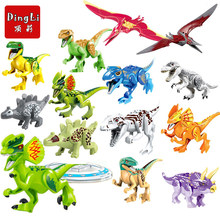 Single Sale Jurassic World 2 Figures Dinosaur Dinosaurs Building Kits Bricks Baby Toys Compatible With Legoings Lepine Technic(China)