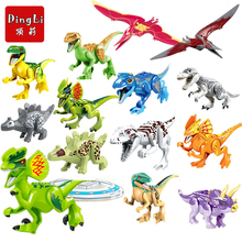 Single Sale Jurassic World 2 Figures Dinosaur Dinosaurs Building Kits Bricks Baby Toys Technic