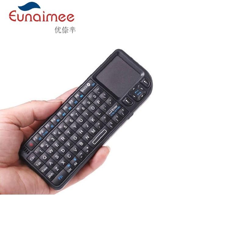 Mini 3 in 1 2.4G langaton mini-näppäimistö, jossa on kosketuslevy + laserosoitin + taustavalo PC-kannettaville Smart TV Smartphone