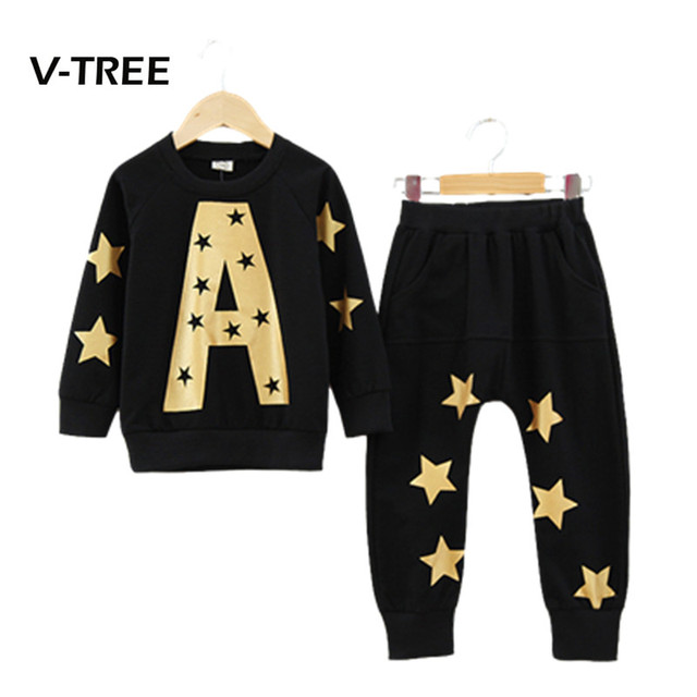 children clothing Cotton boy girl Clothes Kids Sets Coat+Pants 2pcs Brand New Boys Sports Clothing Set