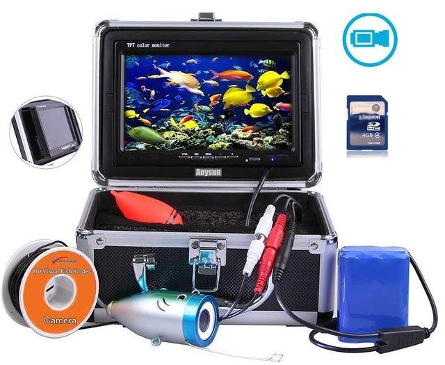 Professionele Video Fishfinder 1000TVL Lichten Controleerbaar Onderwater Vissen Camera Kit Lake Onder Water Video Fishfinder Hot