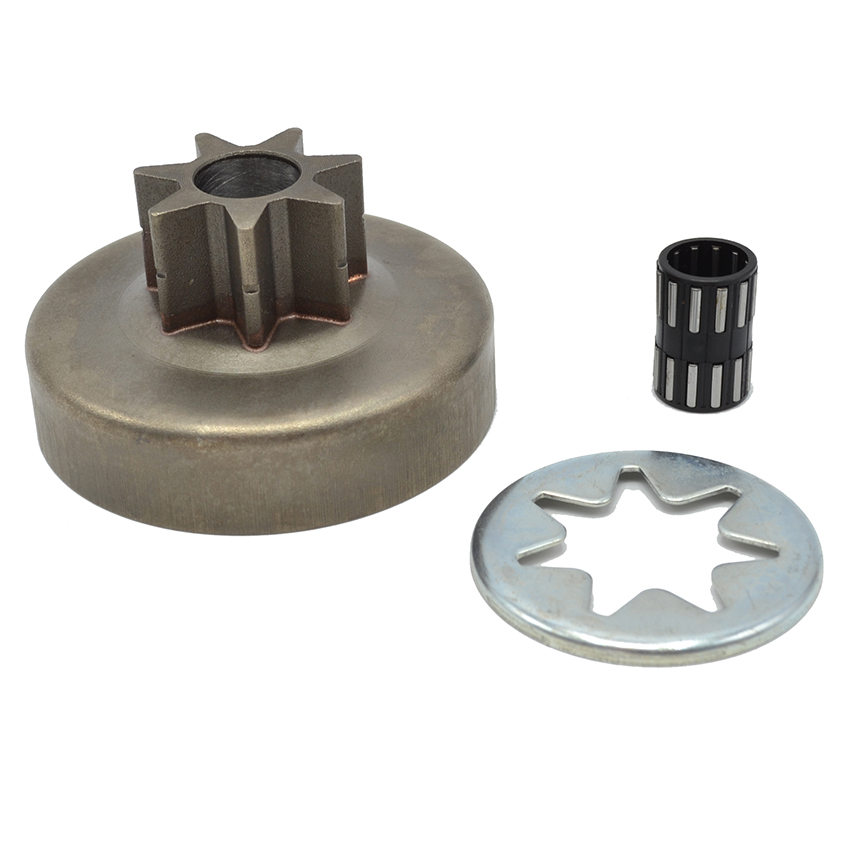3/8 7T Clutch Drum Chain Drive Spur Sprocket Needle Bearing FITS STIHL Chainsaw 038 MS380 MS381 Replacement Spare Parts 1119 64 chainsaw clutch drum rim sprocket 3 8 7t needle bearing kit for husqvarna 61 66 162 266 268 272 jonsered 625 630