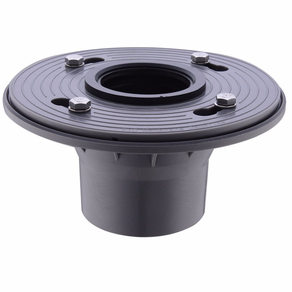 2 Inch PVC Shower Drain Base with Rubber Gasket