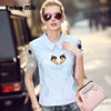 High End Women Embroidery Swan Mesh Cotton Blouse Shirt 2016 Summer Ameican And European Fashion Runway