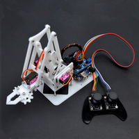 DIY 4 DOF PS2 Remote Control Robot Arm with Mainboard for Arduino Learning Kits Science Educational Toy| |   -