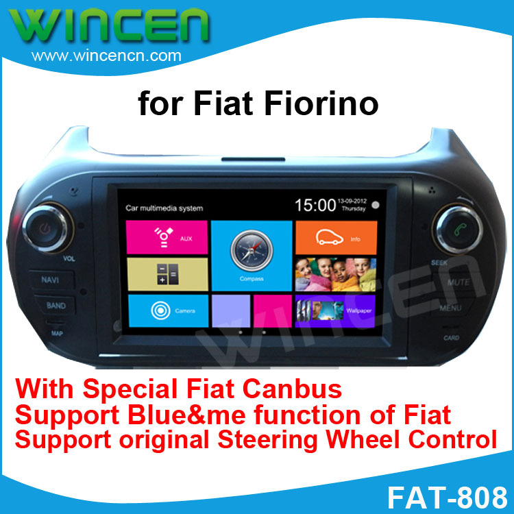 6.2 inch Car DVD GPS Player for Fiat Fiorino With GPS DVD IPOD BT RDS Radio USB SD function Free Shipping