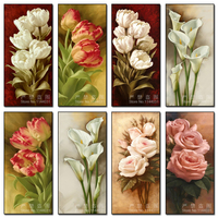 DIY 5D Full Diamonds Embroidery Flowers Diamond Painting Cross Stitch Kits Rose Lily Diamond Mosaic Home