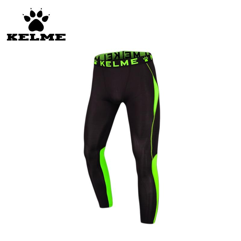 лучшая цена KELME 2016 Men Sports Fluorescent Tights Compression High Elasticity Leggings Running Fitness Tight Pants Long Trousers 69