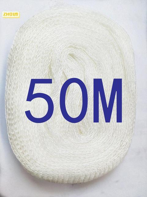 50M PVA Mesh Refill Calza Boilie Rig Esca Wrap Borse di Pesca Alla Carpa
