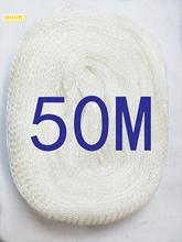 50M PVA Mesh Refill Carp Fishing Stocking Boilie Rig Bait Wrap Bags