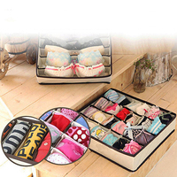 4Pcs Underwear Socks Tie Bra Glove Closet Organizer Storage Box Drawer Container BHSY