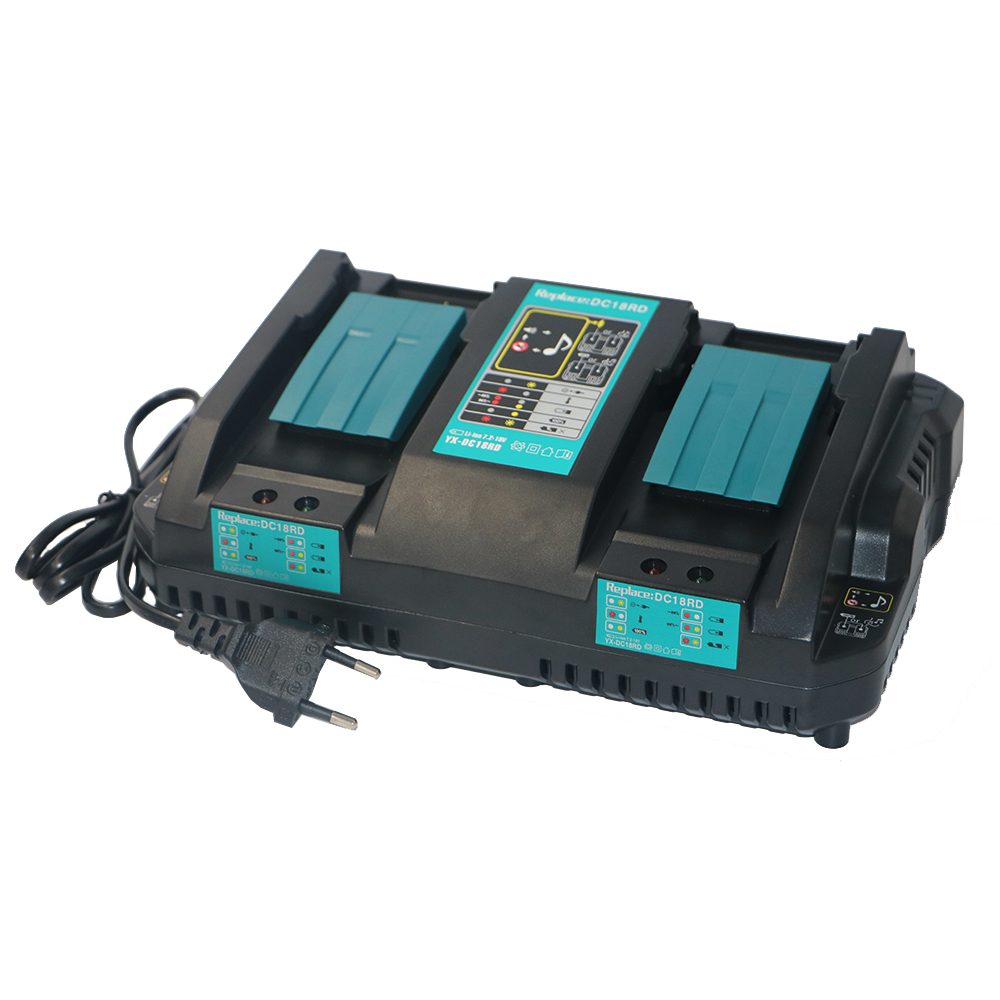 New Replacement Power Tool Battery Lithium ion Dual Port Fast Optimized 4A Output Charger For Makita BL1415 BL1430 BL1840 BL1830 5000mah rechargeable lithium ion replacement power tool battery packs for makita 18v bl1830 bl1840 bl1850 lxt400 194205 3 p25