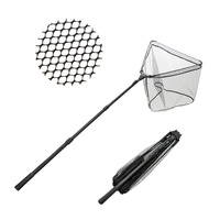 Telescopic Fishing Net Portable Folding Landing Net W Extendable Aluminium Pole 1 6m 2m 2 6m