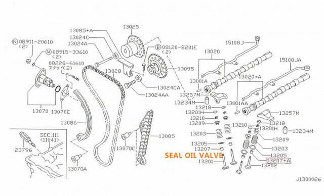 US $22 0 |SEAL OIL VALVE (24) FOR FIT NISSANINFINITI VQ20DE VQ30DE VK45DE  VQ37VHR VQ25HR VQ35HR VQ25DE VR38DETT VK45DE VK50VE VK56VD-in Crankshafts &