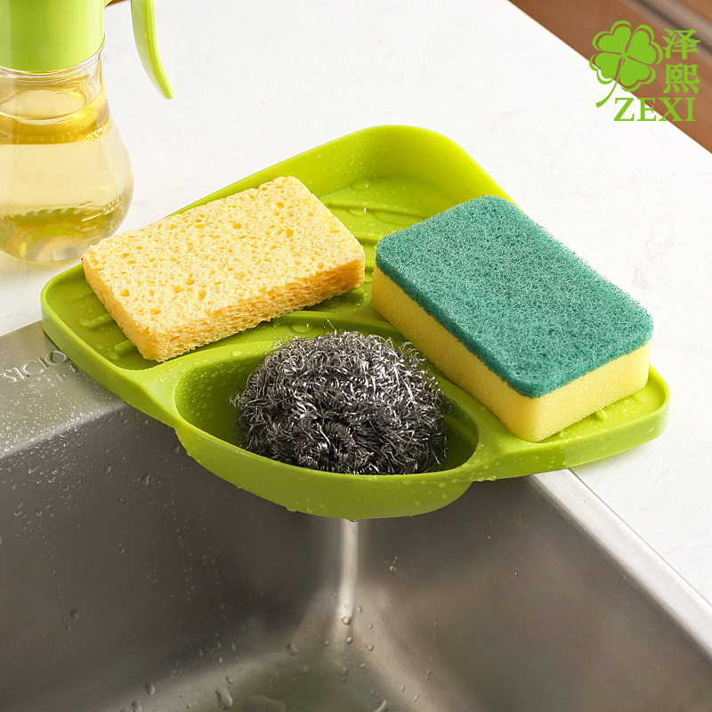 Nice Plastic Large Sink Dish Drainer Vegetable Fruit Triangle Corner Drying Rack  Washing Holder Organizer Tray For