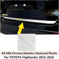 For Toyota Highlander 2015 2016 Body Styling Cover Detector Stainless Steel Rear Door Bottom Tailgate Frame