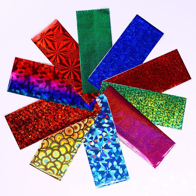 50 Pcs Colorful Holographic Nail Foil 4*20cm