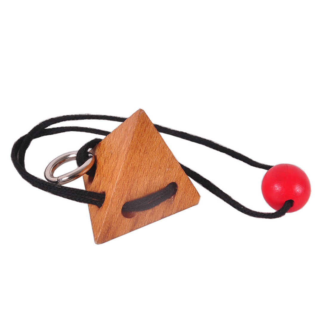Iq Rope Wooden Puzzle Logic Brain Teaser String Puzzles