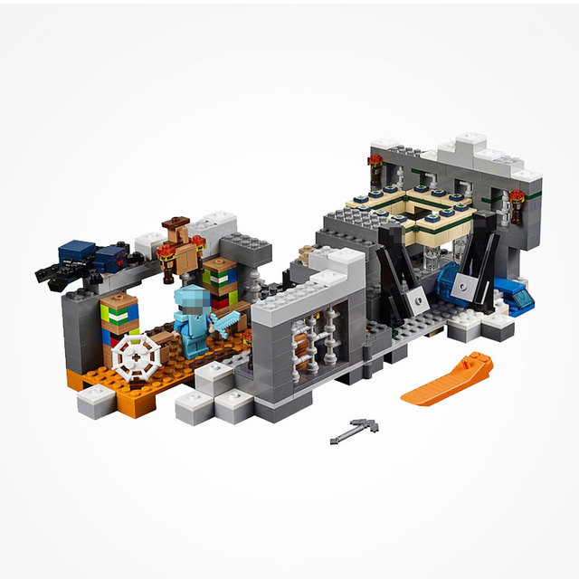 US $24 25 30% OFF|Legoing Minecraft The End Portal Cave Spider and the  Endermen Set Legoing Minecrafted 571pcs Toy for Children-in Blocks from  Toys &