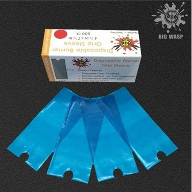 500pcs/Box BIGWASP Disposable Blue Tattoo Grip Sleeves Supply For Tattoo Grips Tattoo Accessories Wholesale