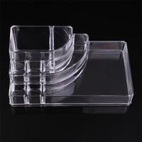 3 Layer 8 Lattice Clear Acrylic Lipsticks Holder Case Cosmetic Makeup Brush Shelf Jewelry Organizer Transfer