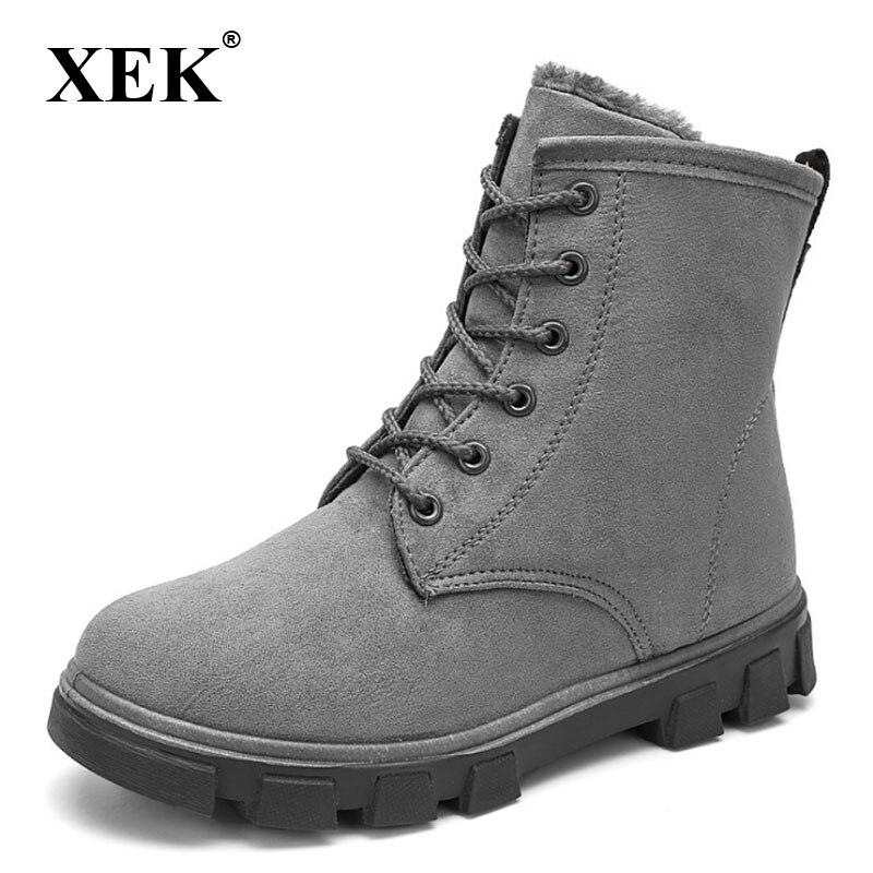 d3472a6ce marrón Xek Caliente Mujer Zll190 Llegada Botas gris Invierno 2018 Nieve  Zapatos negro De Tacones Plantilla Moda Beige Botines Felpa ...