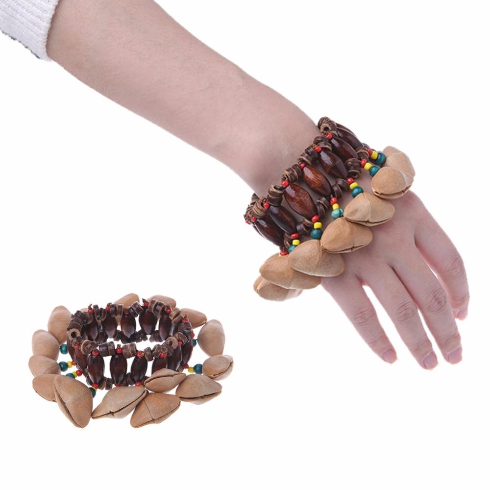 Main Noix Shell Bracelet Clochette pour Tambour Africain Conga Accessoires J19