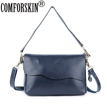 COMFORSKIN Brand Genuine Leather Womens Totes New Arrivals European American Feminine Messenger Bags Woman Handbag