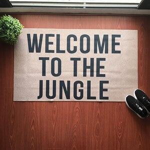 Image 2 - Estera de puerta de entrada piso Mat Bienvenido a la selva para gracioso de interior al aire libre de felpudo