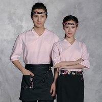 2019 new japanese restaurant uniforms woman bakery waitress uniform man coffee uniforms kimono tops