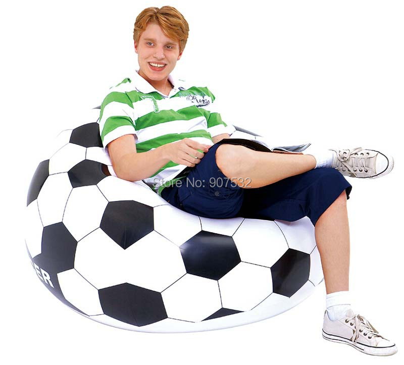 SINGLE INFLATABLE CHAIR SOFA BLOW UP FOOTBALL SEAT GAMING