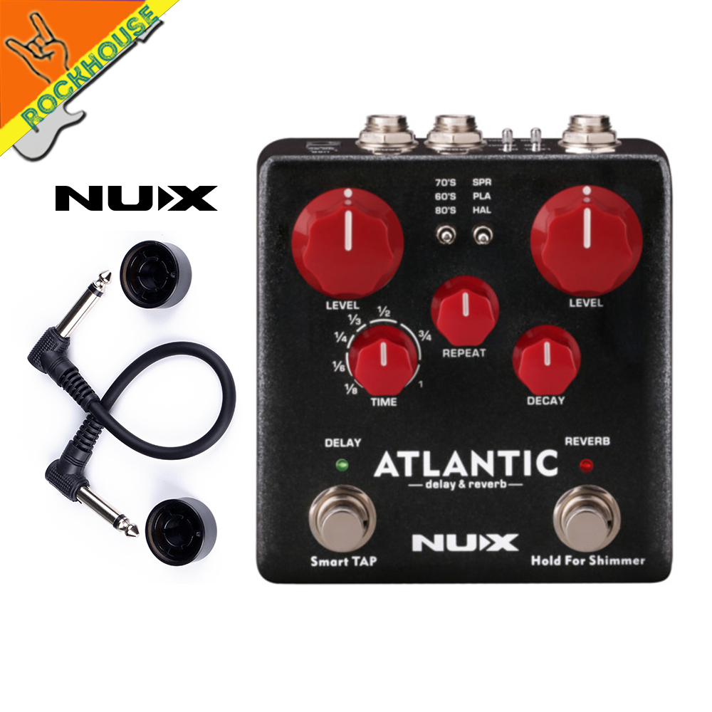 NUX Atlantic Multiple Delay and Reverb Guitar Effects Pedal with Tape Analog Digital Delay and Spring