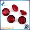 100pcs 5.0-12mm Garnet Color Round Shape Machine Cut Loose Glass Beads Synthetic Gems Jewelry Stone