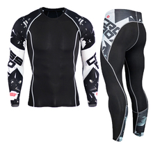 New Men Thermal Underwear Sets Compression Fleece Sweat Quick Drying Thermo Underwear Men Clothing Longs Johns