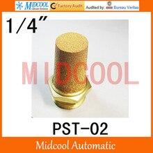 10PCS!!! Pneumatic silencer,Brass  muffler thread 1/4″ PST-02