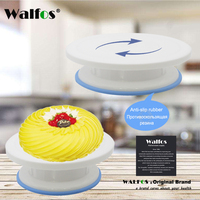 WALFOS 27cm Cake Turntable Rotating Cake Decorating Turntable Anti Skid Round Cake Stand Rotary Table Cake