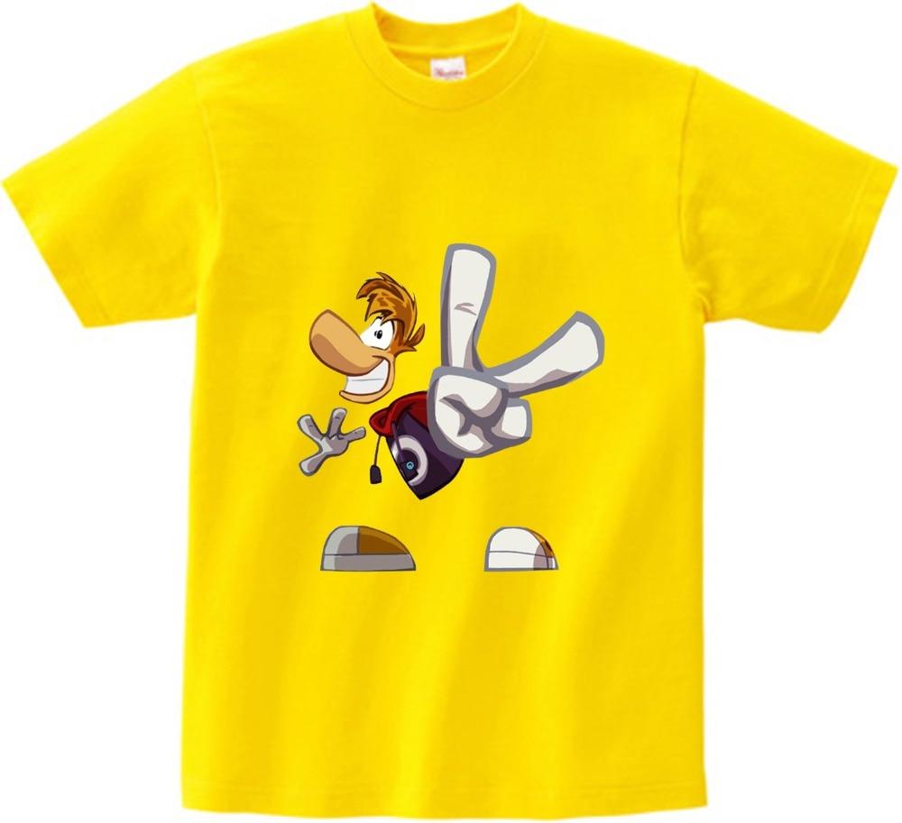 Boys and Girls Cartoon T shirt Rayman Legends Adventures Game Print T-shirt children Funny Clothes Kids Multi-color t shirt  NN 2
