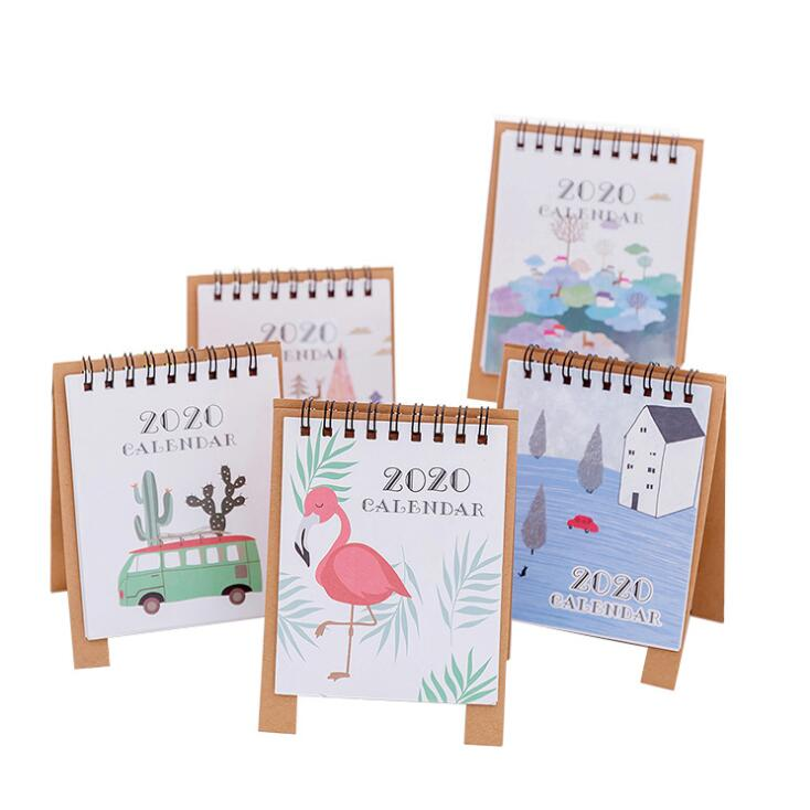 1PC New Arrival 2020 Creative Flamingo Kawaii Desk Calendar Memo Planner Daily To Do List Notepad School Stationery