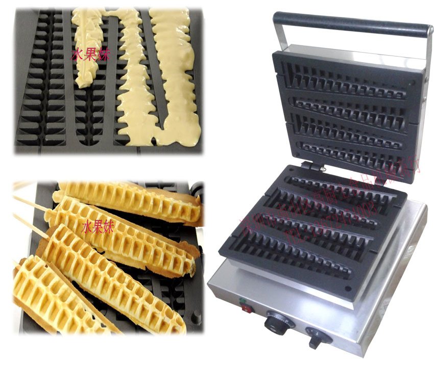 Free shipping Commercial  Use 110V 220V Lolly Waffle Stick Waffle Baker free shipping to united states canada japan commercial use 110v 220v plum donuts baker