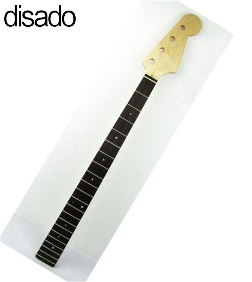 disado 21 Frets inlay dots Maple Electric bass Guitar Neck Rosewood fingerboard Wholesale Guitar accessories musical instruments disado 20 frets electric bass guitar neck rosewood fretless fingerboard guitar accessories musical instruments parts